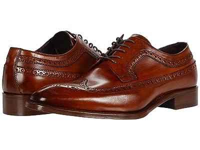 J&M Collection Reece Wing Tip (Caramel) Men