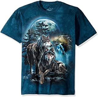The Mountain Mens 104978 Wolf Lookout T-Shirt Short Sleeve T-Shirt