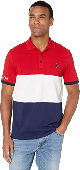 Short Sleeve Classic Fit Rubberized Polo