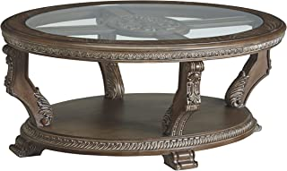 Signature Design by Ashley Charmond Oval Cocktail Table, Brown