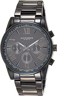 Akribos XXIV Men's Enterprise Analogue Display Swiss Quartz Watch with Stainless Steel Bracelet