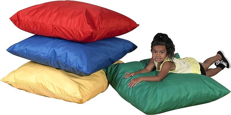 27 Cozy Floor Pillows Primary Set Of 4