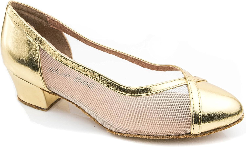 BlueBell Shoes Handmade Women's Ballroom Salsa Wedding Competition Dance Shoes The Leslie 1.6
