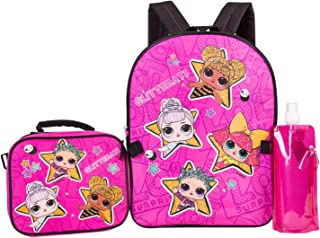 L.O.L. Surprise Backpack Combo Set - Girls' 4 Piece Backpack Set - L.O.L. Surprise Backpack & Lunch Kit (Hot Pink)