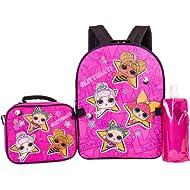 L.O.L. Surprise Backpack Combo Set - Girls' 4 Piece Backpack Set - L.O.L. Surprise Backpack &...