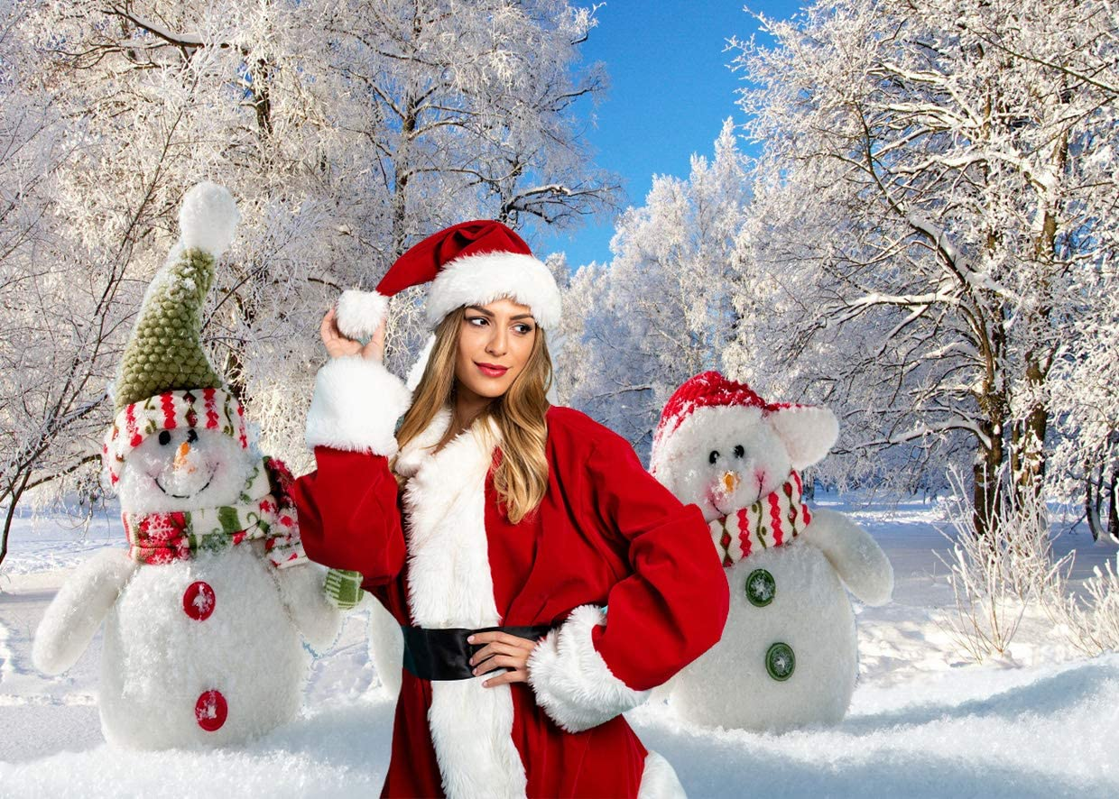 gaixample.org LYWYGG 8x6FT Christmas Background Snow Background ...