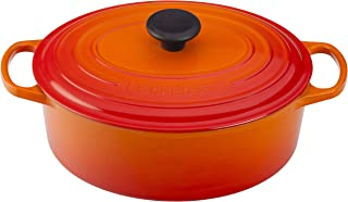 Le Creuset of America Enameled Cast Iron Signature Oval Dutch Oven, 8 quart, Flame - coolthings.us