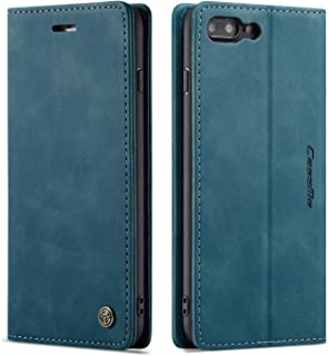 QLTYPRI iPhone 6 Plus 6S Plus Case Vintage PU Leather Wallet Case TPU Bumper [Card Slots] [Hands-Free Kickstand] [Magnetic Closure] Shockproof Flip Folio Case for Apple iPhone 6 plus/6S Plus - Blue