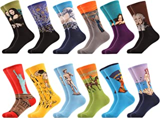 WeciBor Men's Dress Cool Colorful Fancy Novelty Funny Casual Combed Cotton Crew Socks Pack