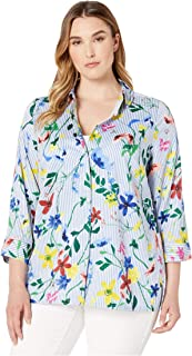 Foxcroft Women's Libby Floral Wrinkle Free Tunic