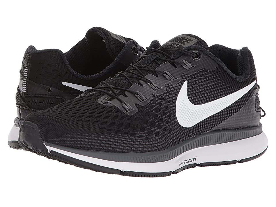 Nike Air Zoom Pegasus 34 FlyEase (Black/White/Dark Grey/Anthracite) Women