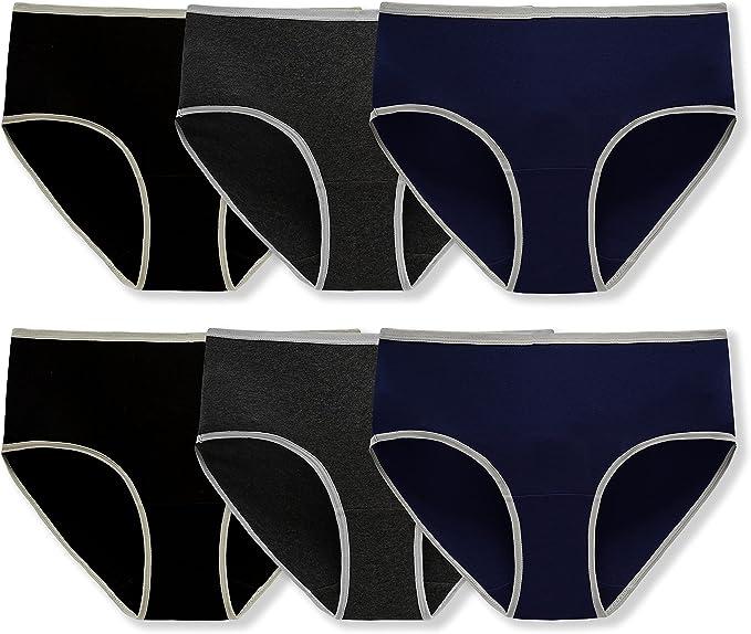 Kissage Women Underwear Ladies Stretch Hipster Panties Briefs Regular & Plus Size