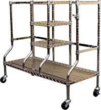 SafeRacks Golf Equipment Organizer Rack   Heavy-Duty Steel Wire Shelf Extra-Wide   Fits 2 Extra-Large Bags Plus Accessories