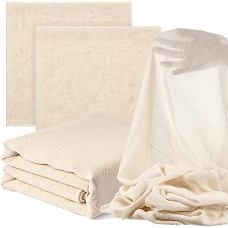 STAR WORK - Muslin Cloth for Straining Unbleached Cotton, Natural Ultra Fine Cheese Cloths for Straining Reusable, Making Cheese, Baking, Hallowmas Decoration (1 x 1.2 MT)