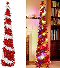 AerWo 7.5ft Christmas Tree, Hinged Artificial Christmas Tree with 1,346 Branch Tips for Home Holiday Party Decorations, Ea...