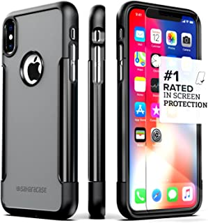 iPhone X Case, SaharaCase Protective Kit Bundle with [ZeroDamage Tempered Glass Screen Protector] Rugged Protection Anti-Slip Grip [Shockproof Bumper] Slim Fit iPhone 10 - Black Gray
