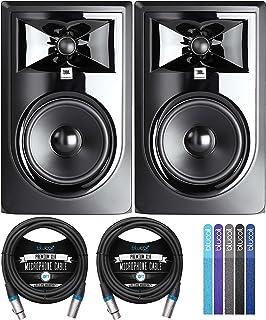 "JBL Professional 306P MkII Next-Generation 6"" 2-Way Powered Studio Monitors (2-Pack) Bundle with Blucoil 10-FT Balanced XL..."