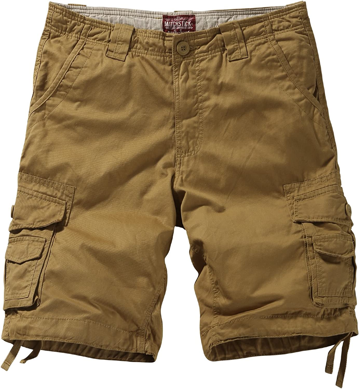 Matchstick Hombre Shorts Cargo #S3612(Caqui (S3612 Khaki),38W (ES 48))
