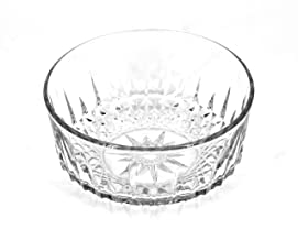 Arcoroc of France Bowl,Star on Bottom,Crystal Glass
