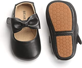 Felix & Flora Infant Toddler Baby Moccasins Soft Sole Bowknot Baby Walking Shoes Mary Jane Dress Shoes