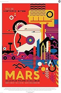 Mars: Visit the Historic Sites - NASA JPL Space Tourism Travel Poster - Unframed (24