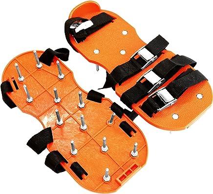 GRÜNTEK Sandalo Aeratore Scarpe da Prato per areazione Prato e Giardino con 4 Cinturini Regolabili, Chiodi in Acciaio, Fibbie in Metallo. Taglia Unica Adattabile ad Ogni Calzatura.