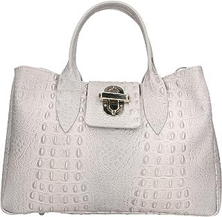 Aren - Handbag Borsa a Mano da Donna in Vera Pelle Made in Italy - 35x25x15 Cm