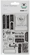 Kaisercraft CS159 Acrylic Rubber Captured Moments Stamp, 6.25 by 4-Inch, Polaroid, Clear