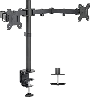 VIVO (STAND-V002) Dual LCD Monitor Desk Mount Stand Heavy Duty Fully Adjustable fits 2 /Two Screens up to 27""