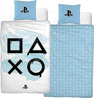 Character World Playstation sängkläder 135 x 200 cm + örngott 80 x 80 cm spelstation · 100 % bomull · sängkläder för tonår...