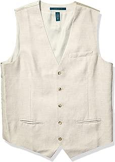Perry Ellis Men's Linen Five Button Vest