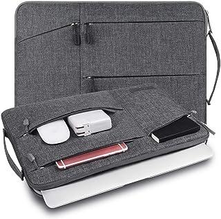 WIWU PCインナーバッグ 裏起毛 360°保護 衝撃吸収 防水 15.4~15.6インチ pcケース ノートパソコンケース MacBook Pro 15/daynabook/ウルトラブック/ラップトップ/モバイルノート用 PCバッグ (15.6inch, グレー)