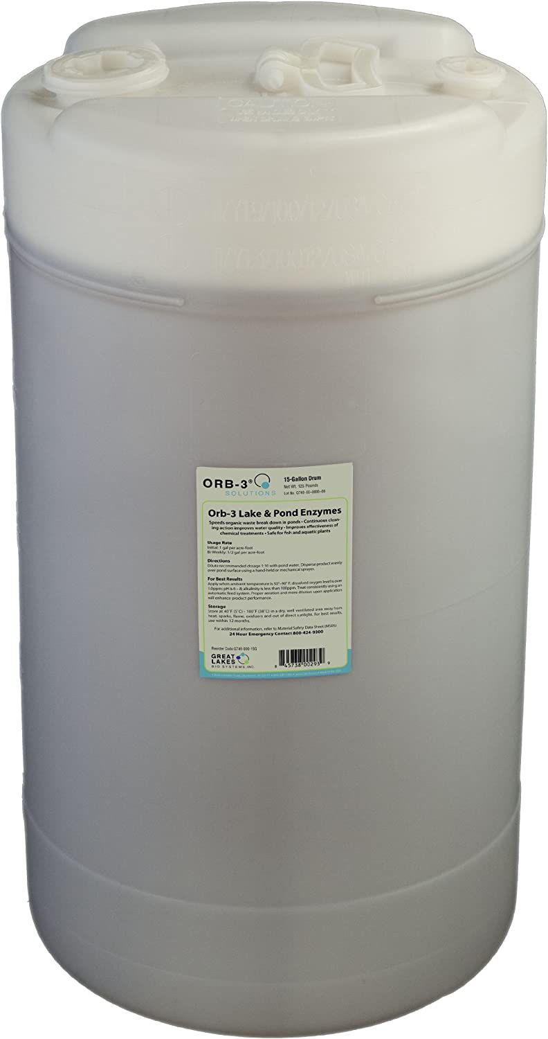 Max 54% OFF Orb-3 Lake NEW and Pond Enzyme 15-Gallon for Maintenance Drum