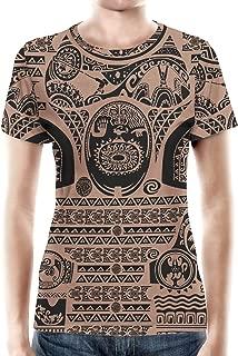 Rainbow Rules Maui Tattoos Inspired Disney Moana Women Cotton Blend T-Shirt