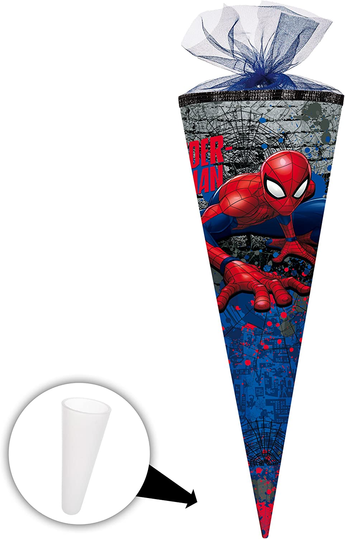 Alles-meine  GmbH 10 Stück _ Schultüten -  Spider-Man   Spiderman  - 50 cm - rund - mit Tüllabschluß - Zuckertüte - mit   ohne Kunststoff Spitze - Nestler - Jungen - Ultimate.. B07D2MHDYD | Wir haben von unseren Kunden Lob erhalt
