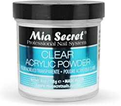 Mia Secret Professional Acrylic Nail System Clear Acrylic Powder, 4 oz.