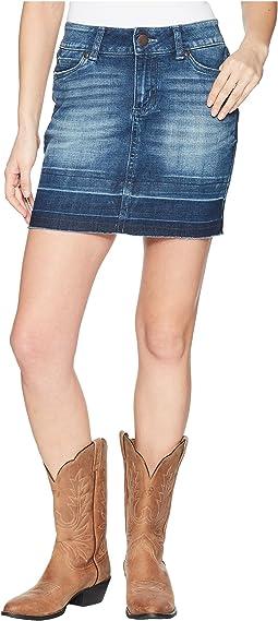 Retro Western Skirt Mid-Rise
