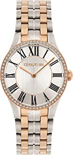 Cerruti 1881 Modica Women Analogue Watch With White Dial And Silver And Rose Gold Stainless Steel Bracelet - CRM26403