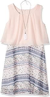 Amy Byer Girls' Big Sleeveless Popover Dress