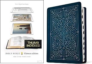 Filament Bible NLT (LeatherLike, Navy/Rose Gold, Indexed): The Print+Digital Bible