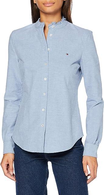 Tommy Hilfiger Recycled Oxford Reg LS Shirt Camisa para Mujer