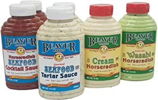 Beaver Mixed Seafood Variety Pack, 11.5-13 Ounce Squeeze Bottles (6 Bottles)