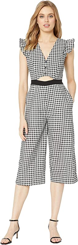Cut Out Culotte Woven Jumpsuit
