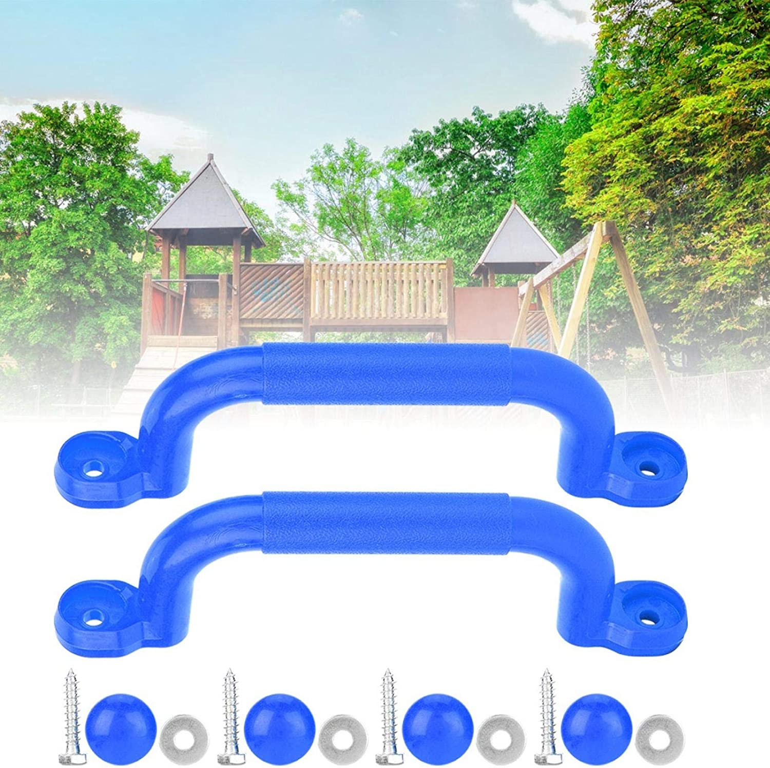 fegayu Non-Slip Safe Sturdy Playground Handle With Finger Grips Plastic Plastic Playground Handle For Climbing Frame /& Play House