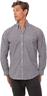 Chef Works Men's Gingham Dress Shirt