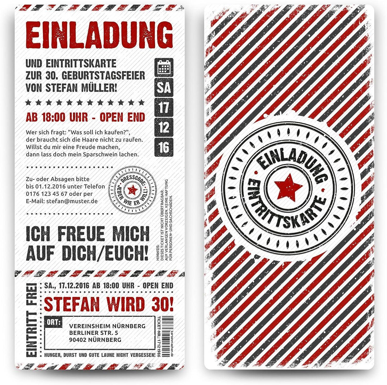 40 x Geburtstag Geburtstag Geburtstag Einladungskarten Eintrittskarten Geburtstagseinladungen Ticket Einladung - Grunge   Weiß B07C5RGDQ7  | Die Qualität Und Die Verbraucher Zunächst  9db978