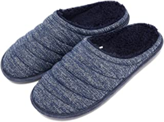 COZISO Slippers for Men Warm Memory Foam Slip on House Shoes Men Cotton Comfortable Knitted Fabric Home Indoor & Outdoor B...