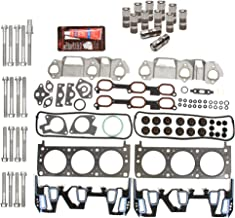 Evergreen HSHBLF8-10401 Lifter Replacement Kit Fits Chevrolet Oldsmobile Pontiac 3.1 3.4 OHV 12V Head Gasket Set, Head Bolts, Lifters
