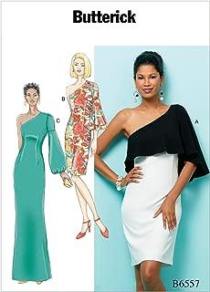 Butterick B6557A50 Women's One Shoulder Dress Sewing Pattern, Sizes 6-14