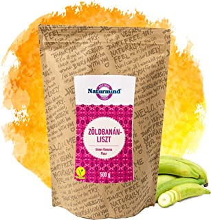 Naturmind grünes Bananenmehl 500g | Kochbananenmehl | Plantain flour | 100% Natürlich | Rohkostqualität | Vegan | Paleo | Gluten Free Flour | Glutenfrei mehl | Perfekt für Süße und Salzige Rezepte
